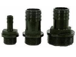 Slangpilaar PP Zwart  bu.dr. x Tule. 1/4 inch x 6 mm