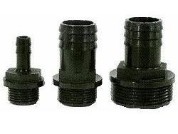 Slangpilaar PP Zwart  bu.dr. x Tule. 1/4 inch x 9 mm