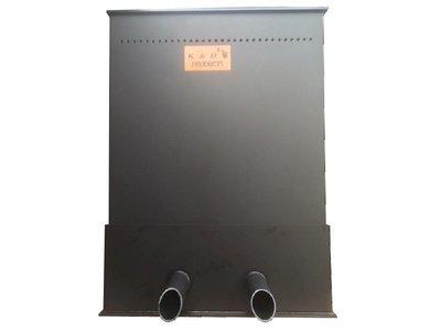 K&D Trickle Filter Middel Zwart - pijp